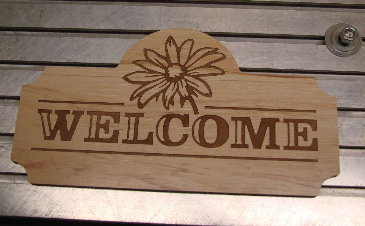 Cnc Router Daisy Welcome Sign Readytocut Vector Art