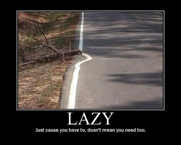 Now That's Lazy