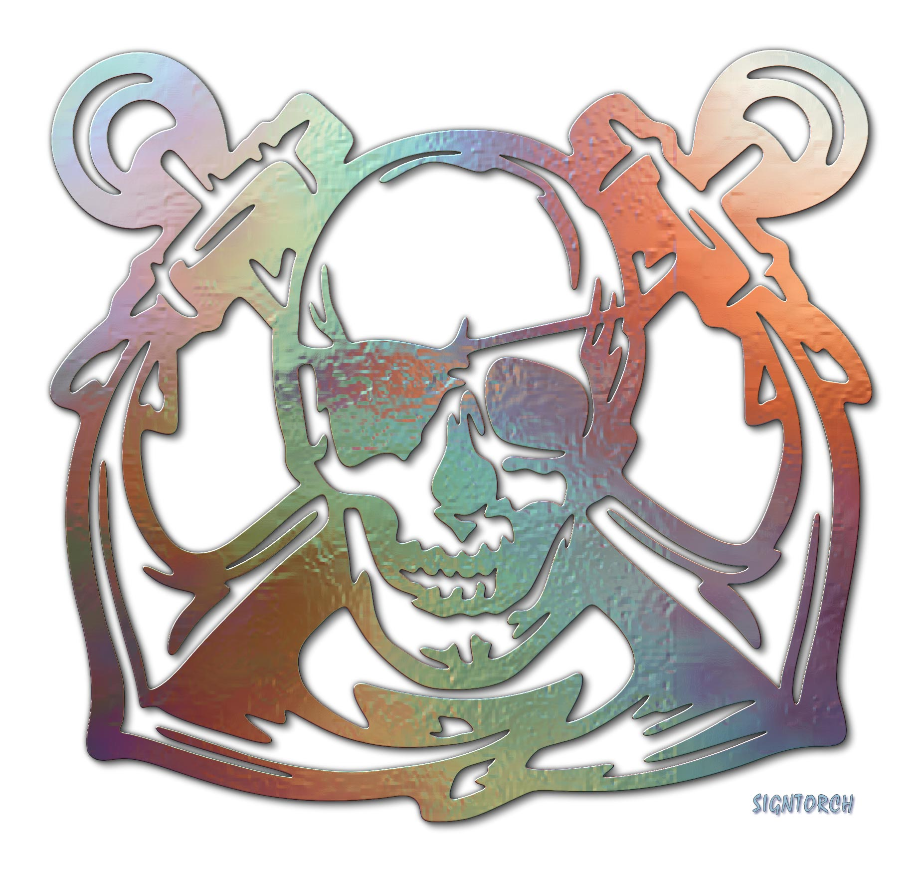 Navy Skull | ReadyToCut - Vector Art for CNC - Free DXF Files