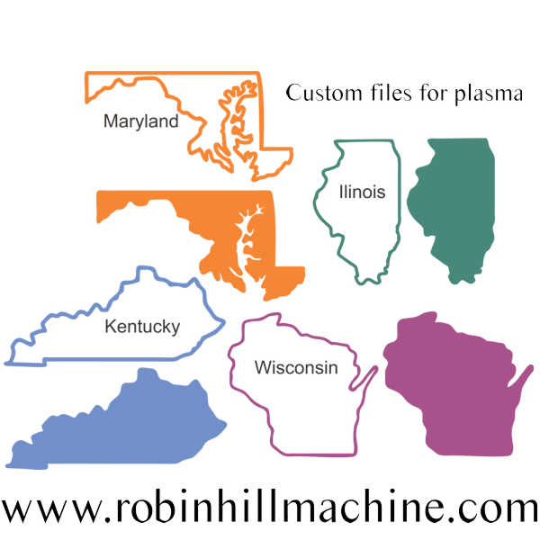 New states dxf illinois kentucky maryland wisconsin readytocut attached files gumiabroncs Choice Image