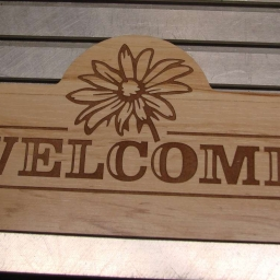 Cnc_router_daisy_welcome_sign