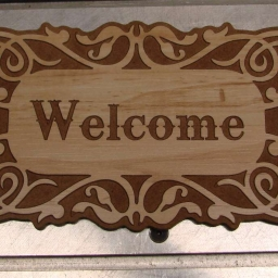 Floral_welcome_sign_dxf_clip_art